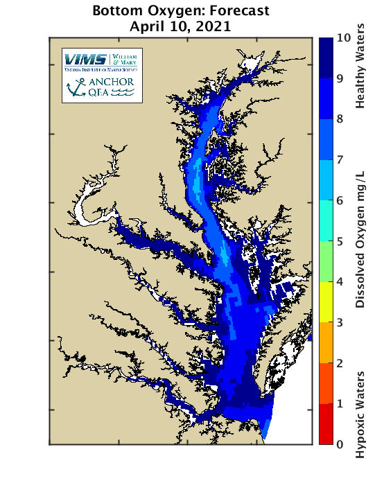 Hypoxia forecast for Chesapeake Bay